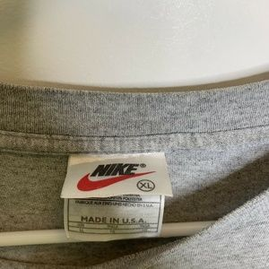 Nike Shirts - Vintage Nike Mens XL Grey Athletics Courage Commit